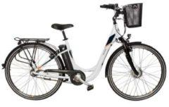 "TELEFUNKEN RC756 Multitalent Alu-City-E-Bike 28"" VR-Motor weiß"