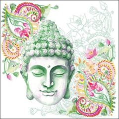 Groene Ambiente Servet 33cm Buddha Head Green