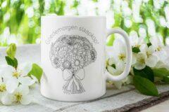 Witte The Mokken Boutique - Gepersonaliseerde Mok voor Moederdag - uniek design met bloemen, boeket