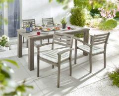 Gartenstuhl-Set, 4-tlg., 2 Stühle inkl. Auflage...