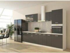 Andere ULTRA Complete keuken met ovenkolom en werkblad inbegrepen L 300 cm - Matgrijs