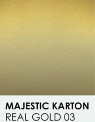 Gouden Karton met glinster notrakkarton Majestic real gold 03 A4 250 gr.
