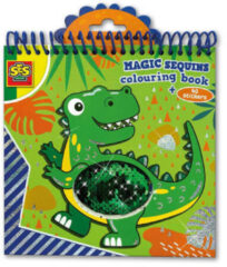 SES Magische pailetten kleurboek (bl/gr)