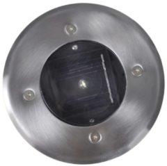 Roestvrijstalen VidaXL Padverlichting Solar ronde grondspot (6 stuks) 40759