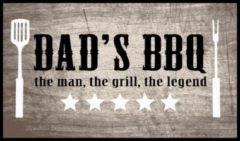 Beige MD-Entree BBQ mat Dad's BBQ the man 67x120 cm
