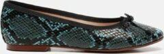 Blauwe Giulia Ballerina's slangenprint - Maat 41