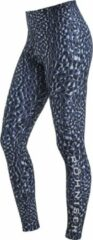 Blauwe Rohnisch Flattering Printed Tights Dames Sportlegging - Dusty Blue Spot - Maat XS