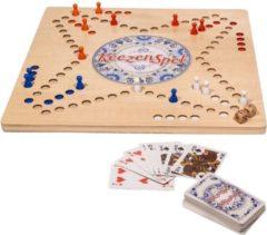 Keezenspel hout - houten keezenspel - keezenbord - houten Keezen - Houtenkeezen - Keezenbord hout - Clown Games