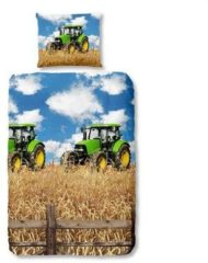 Good Morning Farmer dekbedovertrek - 100% katoen - 1-persoons (140x200/220 cm + 1 sloop) - 1 stuk (60x70 cm) - Multi