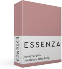 Roze Essenza Premium Jersey - Hoeslaken - Extra Hoog - Tweepersoons - 140/160x200/220 cm - Dusty Rose