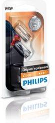 Philips Autolamp Vision T10 12 Volt 5 Watt 2 Stuks - Warm wit - Stadslicht - Steeklampje auto - lamp - 12V 5W - 2 stuks - kentekenverlichting - binnenverlichting - W5W