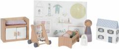 Little Dutch houten poppenhuis uitbreidingsset babykamer 11-delig