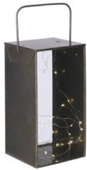 Mica Decorations Lantaarn Aston Led 18,5 X 35 Cm Ijzer Goud