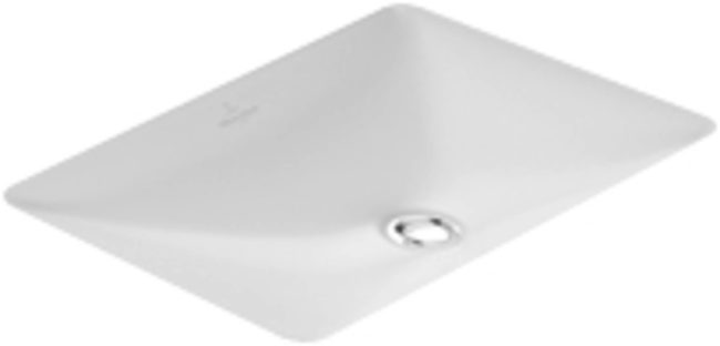 Afbeelding van Villeroy & Boch Villeroy en Boch Loop en Friends onderbouwwastafel 54x34.5cm met overloop zonder kraangat ceramic+ wit