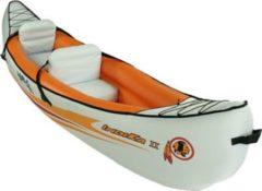 Blueborn Boat Indika 2 - 2 Personen Kanu mit Nylonhülle 325x80cm (Tragfähigkeit 165 kg)