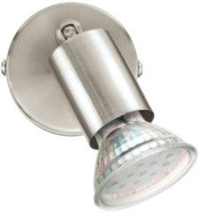 Zilveren EGLO Buzz-Led Spot - 1 Lichts - Nikkel-Mat