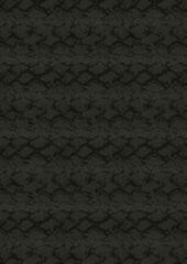 Antraciet-grijze Essenza Plaid Snake (Fleece) - 150x200 cm - Zwart