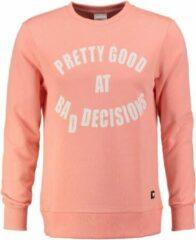 Roze Purewhite Pure white zachte sweater coral - Maat S