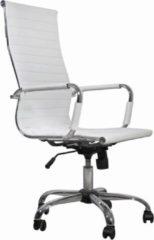 Deli LIfestyle VidaXL - Bureaustoel Bureaustoel vlak wit hoge leuning