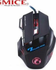 IMice X7 - Illuminated Gaming Muis - Zwart