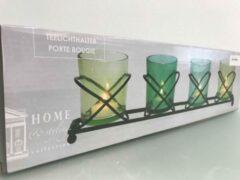 Blauwe Home&Styling Kaarsenhouder