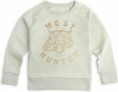 Most Hunted - kindersweater - tijger - licht groen goud - maat 110/116cm