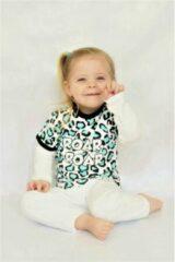 Witte Svenny T-shirt Luipaard Svenny dierenprint Baby T-shirt Maat 110/116