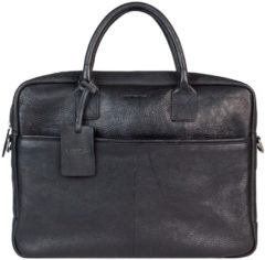 "Zwarte BURKELY Antique Avery Laptopbag 15,6"" Unisex - Schoudertas - Zwart"