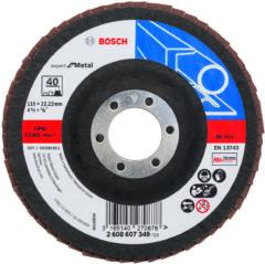 Waaierslijpschijven Bosch Accessories 2608607349 Diameter 115 mm Binnendiameter 22.23 mm Korreling 40 1 stuks