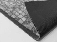 Zwarte Ikado Tapijtloper op maat, mozaïek grijs - 65 x 180 cm