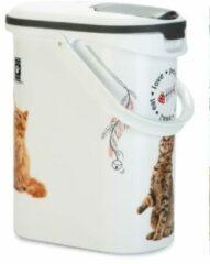 Curver Voercontainer Kat - Kattenvoerbewaarbak - 10 l
