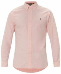 Ralph Lauren Slim fit overhemd in roze met fijn motief