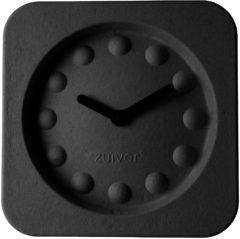 Zwarte Zuiver Klok Clock Pulp Time Square Zwart