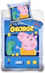 Peppa Pig Dekbedovertrek Jumpy George - Eenpersoons - 140 X 200 Cm - Multi