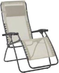 Beige Lafuma RSXA Clip - Relaxstoel - Verstelbaar - Inklapbaar - Zero Gravity - Seigle