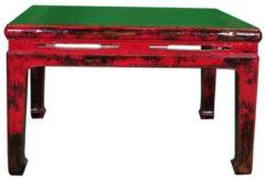 Rode Fine Asianliving Antieke Koffie Tafel Met Marmer Blad B90xD90xH51cm Chinese Meubels Oosterse Kast