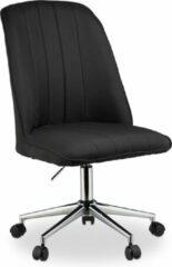Relaxdays bureaustoel - computerstoel - directiestoel - hoogte verstelbaar - zwart