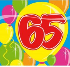 Fun & Feest Party Gadgets Servetten 65 jaar
