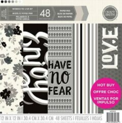"""Craft Smith: Words To Live By Paper Pad 12*12"""" (MPP0135)"""