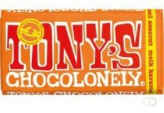 Tony's Chocolonely chocoladereep Melk Karamel Zeezout - 15 x 180 gram
