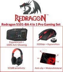Zwarte Redragon S101-BA 4in1 Gaming Kit- Muis, Toetsenbord, Headset en Muismat