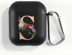 Zwarte Hidzo Hoes Voor Apple's Airpods - Letter S