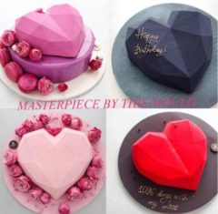 Witte Akyol Moederdag Siliconen mal harten inclusief hamer - Chocolade - TikTok Famous - Diamanten hart- 3D - Bakvorm - Bonbons - Mold - Bakvormen - Smash Heart - Bakken - Koken - Valentijn hart - Keukengerei - Keukenaccessoires - Liefde