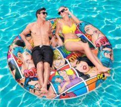 Bestway Pop Art Pool Island - model 4326 - diameter 173 cm - stripfiguren