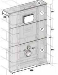 Geberit GISeasy gipskartonplaten ten behoeve van toiletmodule met reservoir UP300 en UP320 frontbed. 130x130cm 442331001