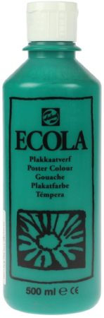 Afbeelding van Donkergroene Plakkaatverf Ecola flacon van 500 ml, donkergroen