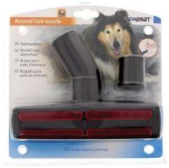 Zwarte Scanpart honden- en kattenhaarborstel - Stofzuigermondstuk