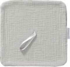 Cottonbaby speendoekje soft - lichtgrijs - baby - speen doekje - speen - bibs - licht grijs