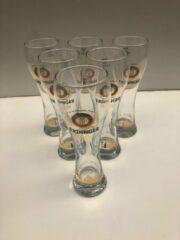Transparante Wijgert.nl Erdinger Hefe Weiss Weissbier Weizen Bierglas Bokaal doos 6x50cl + pakje viltjes bierglazen bier glas glazen