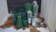 7 Delig Handgemaakte Sierkaarsen Decoratie Set - Groen